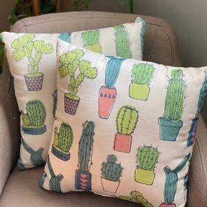 2 Outdoor Cactus 🌵 Pillows